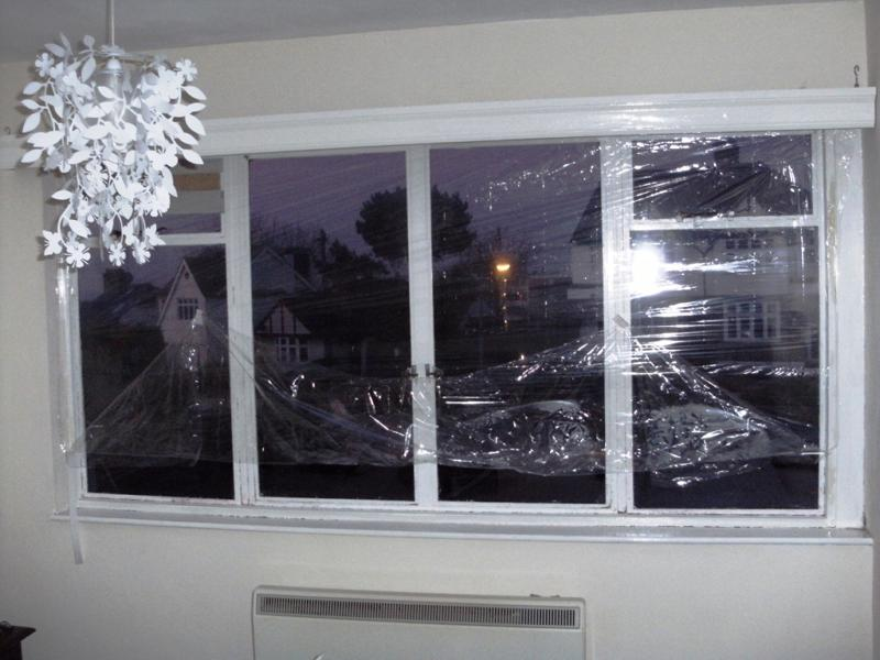 How to weatherize windows with plastic film insulation - by home.
